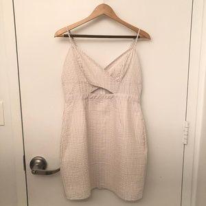White and Beige Summer Dress